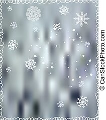 Winter background with snowflakes - for Christmas or New Year