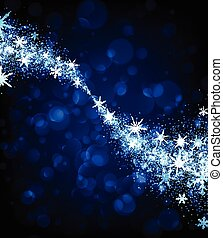 Winter background with swirl of snowflakes. - Abstract...