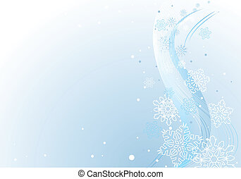 Winter background with white snowfl