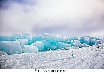 winter Baikal - frozen baikal lake in winter