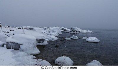 winter baltic sea in finland