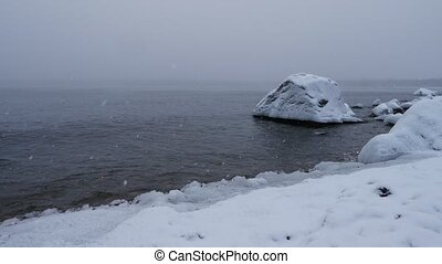 winter baltic sea. sweden