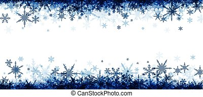 Winter banner with blue snowflakes. - White winter banner ...