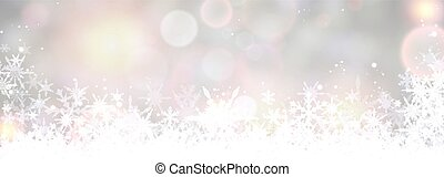 Winter banner with snowflakes. Vector illustration.