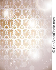 Winter Basque Background Snowflakes