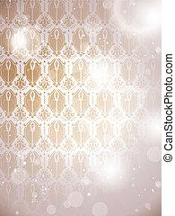 Winter Basque Background Snowflakes