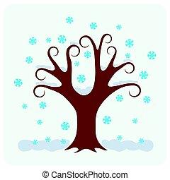 winter., baum