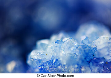 Winter beautiful background of beautiful of blue crystals. ...