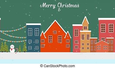 winter, beeldmateriaal, achtergrond, jaar, nieuw, kerstmis, landscape