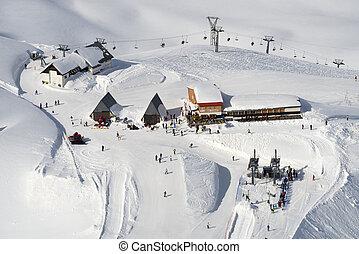 winter, berg, ski, resort.
