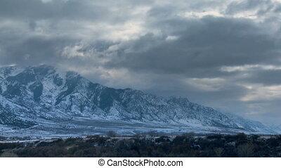 winter, berge, zeit-versehen