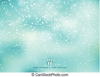 Winter blue background with snow on christmas holiday and new year. Vector illustration.