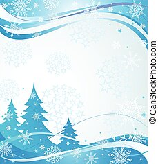 Winter blue banner