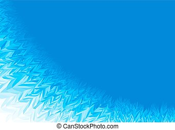 Winter blue frost background with copy space
