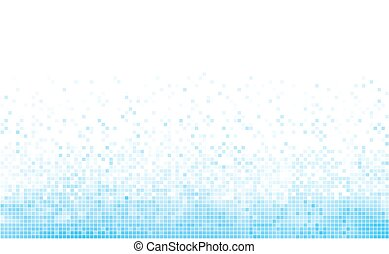 Winter blue mosaic background with white copy space.