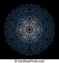 winter blue snowflake