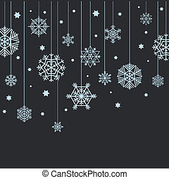 Winter blue snowflakes abstract background