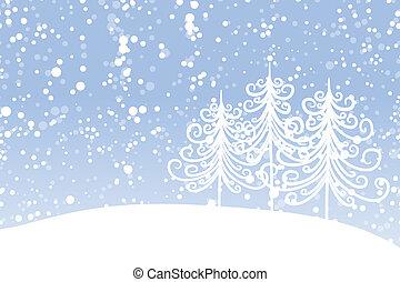 winter boom, voor, jouw, design., kerstmis, holiday.