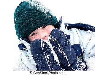 Winter boy fun