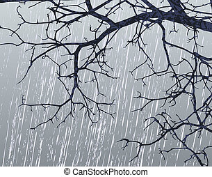 Winter branches - Illustration of bare branches in winter...