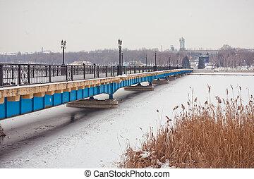 Winter Bridge in the park