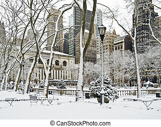 Winter Bryant Park
