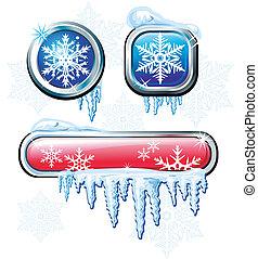 Winter buttons