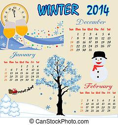 Winter calendar 2014