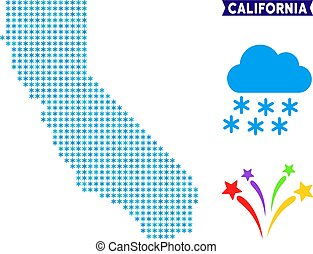 Winter California Map
