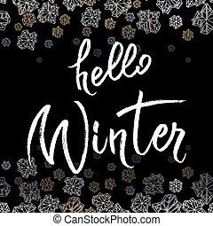 Winter callygraphy design