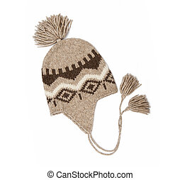 Winter cap isolated on the white background