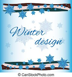 winter card background