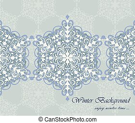 Winter card background with ornaments