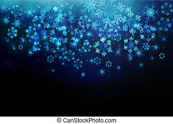 Winter card with snowflakes. Vector Holiday christmas backdrop