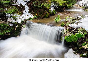Winter cascade Rhodope