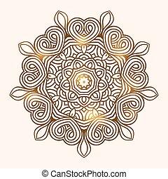 winter celtic knot pattern card, mandala, amulet - winter...