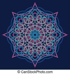 winter celtic knot pattern card, mandala, amulet