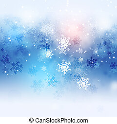 Winter Charming Snow Background