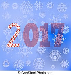 Winter Christmas Blue Snow Flake Background