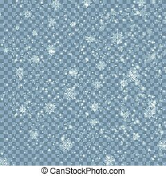 Winter Christmas blue transparent background with snow