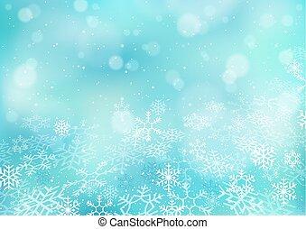Winter Christmas Bokeh Background