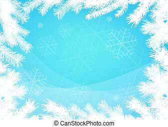 Winter christmas border background - Winter christmas vector...