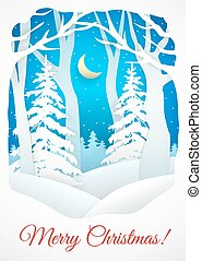 Winter Christmas card