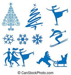 Winter christmas design elements