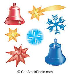 Winter christmas elements