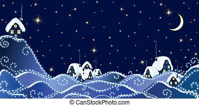 Winter Christmas Landscape - Christmas Landscape of winter ...