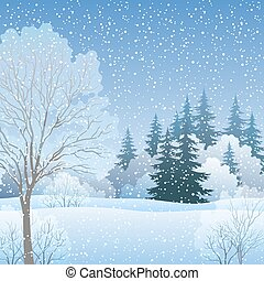 Winter Christmas Landscape