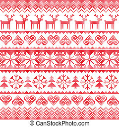 Winter, Christmas red pattern - Christmas vector background...