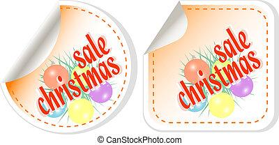 Winter christmas Sale stickers vector set