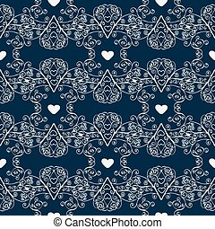 Winter Christmas seamless pattern